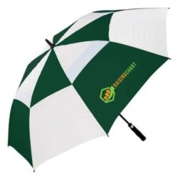 Susino automatic promotional vented golf umbrellas in green and white pfn1074