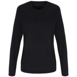 Tri-dri ladies long sleeved performance promotional t-shirts front view pfn1827