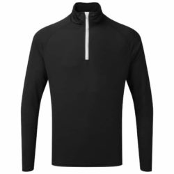 Tri-dri long sleeved fitted performance promotional zip gym tops pfn1823
