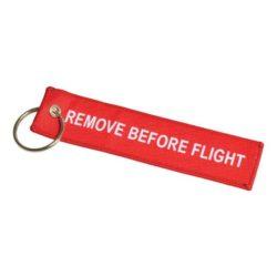 Woven flight tag promotional keyrings pfn1429
